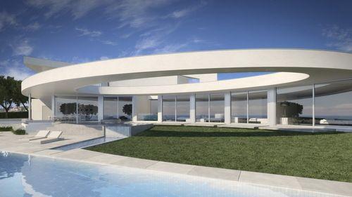 Elliptic House Par L Atelier Mario Martins Faro Portugal Maison Contemporaine Architecture En Beton Maison Moderne