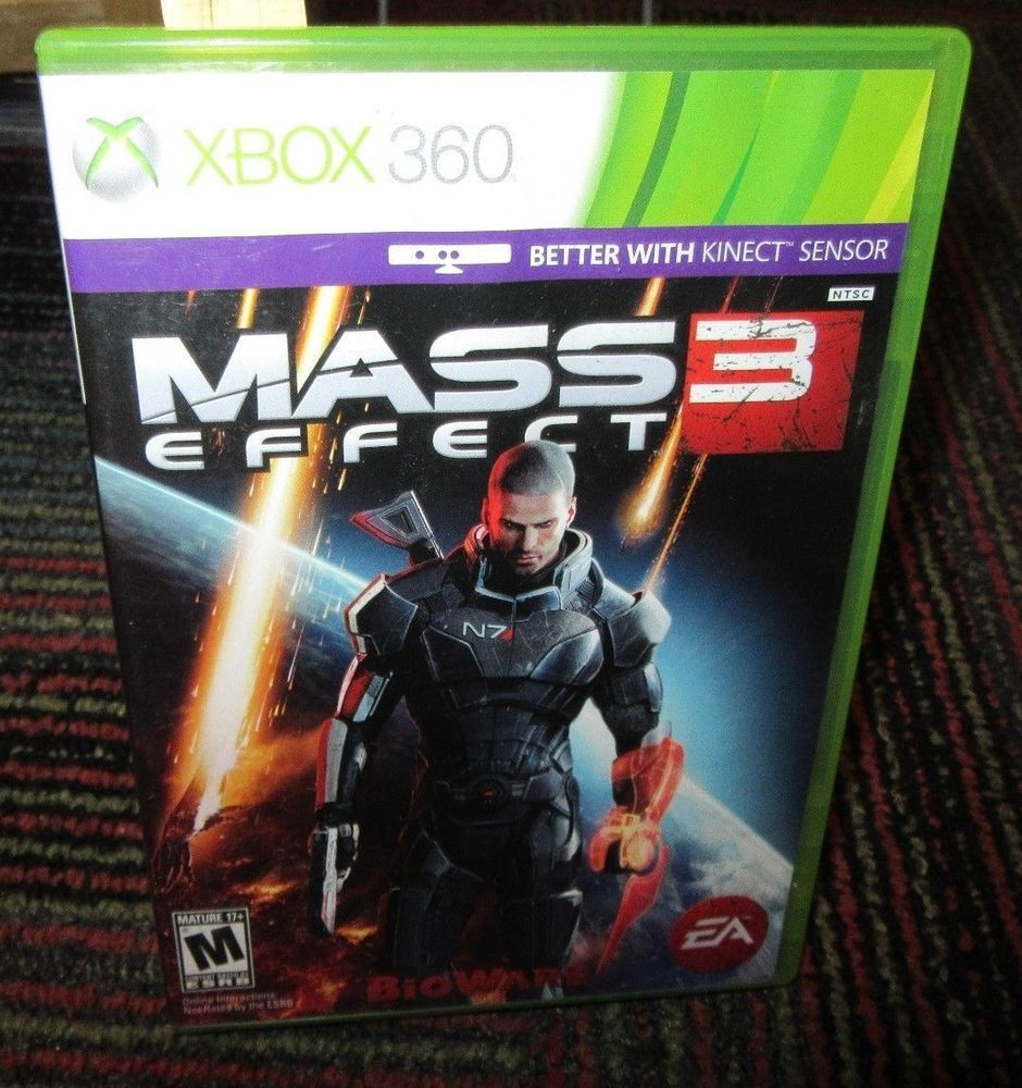 Mass Effect 3 Game F Microsoft Xbox 360 Case 2 Disc Game Pass