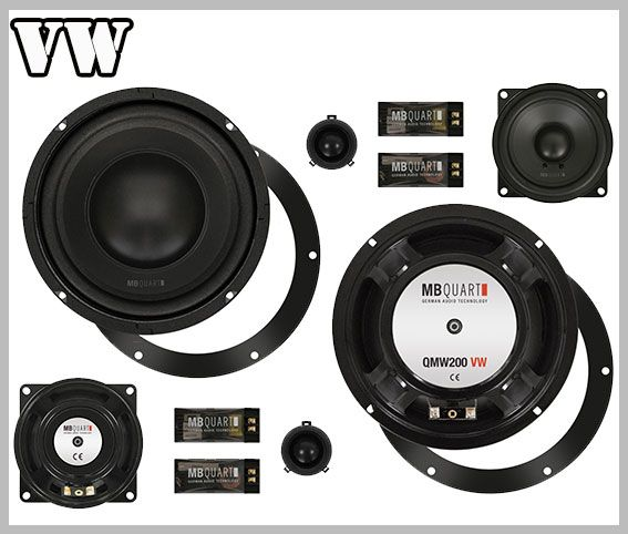 VW Golf V car speakers front door upgrade kit MB Quart QM 200.3 :/