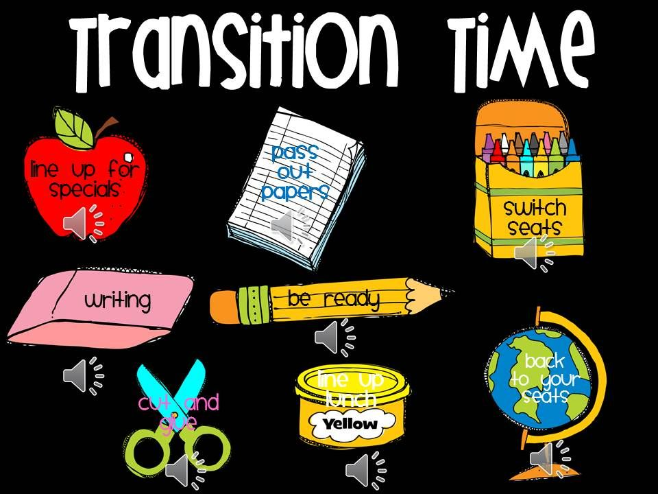 Classroom Transition Ideas : Managing transitions make a powerpoint slide with the