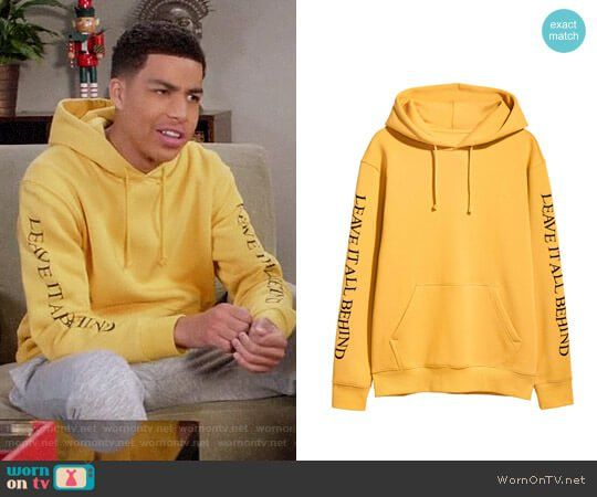 2dd99550c3 Junior s yellow  Leave it all behind  hoodie on Black-ish
