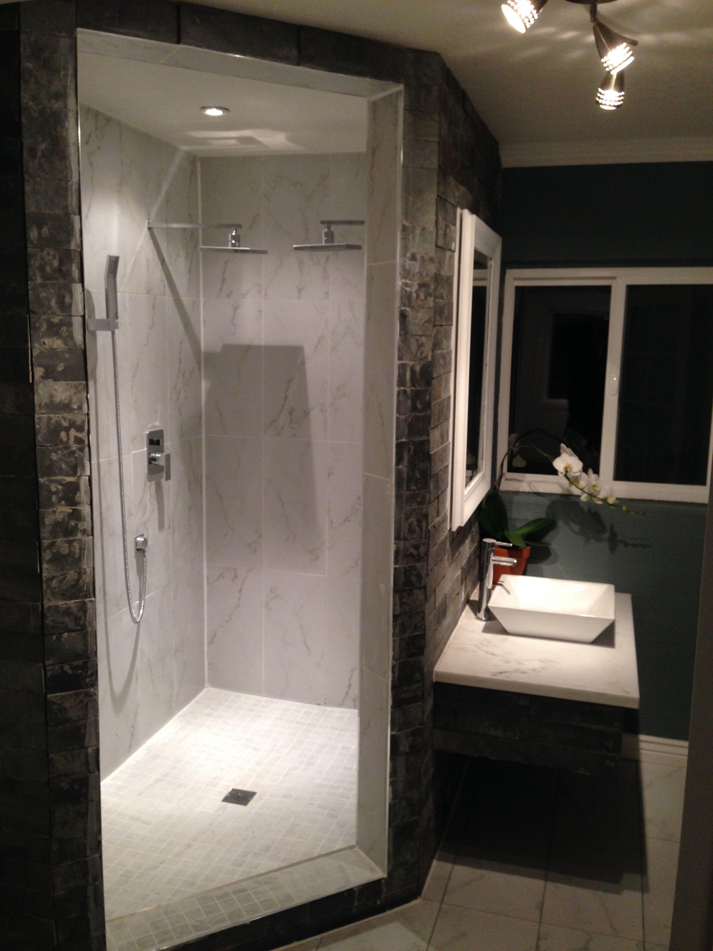 Walk In Shower By Gabriel Genier No Door Marble Shower