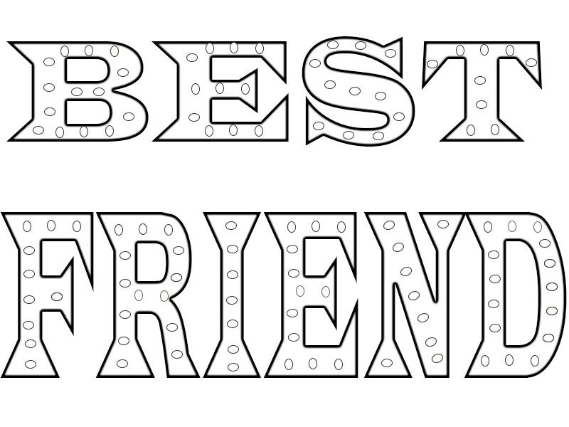 Printable Best Friend Coloring Pages Printable Best Friend