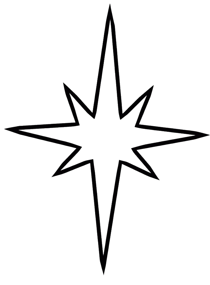 Christmas Star Coloring Page Christmas Star Star Coloring Pages Nativity Star