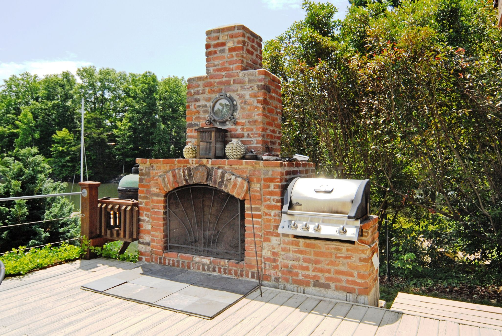 outdoor brick fireplace grill - google search | outside | pinterest