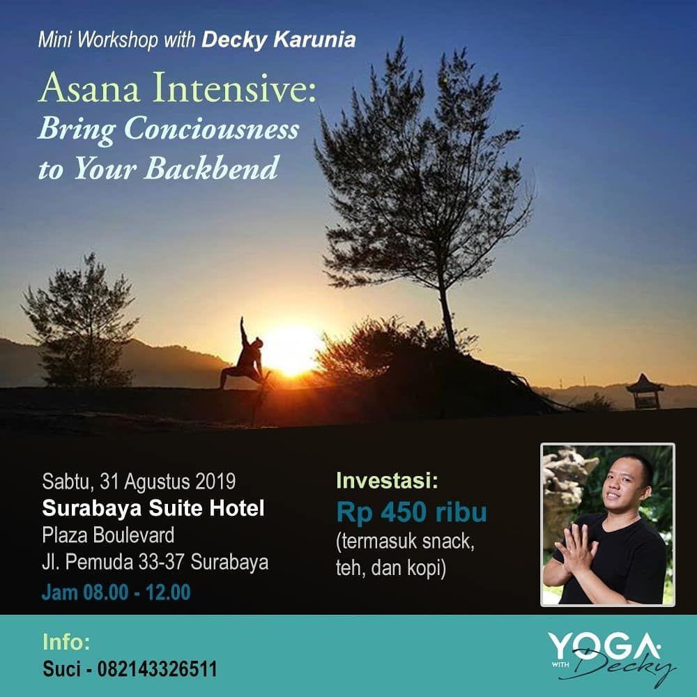 Deckykarunia Master Yoga Dari Jakarta Akan Hadir Di Surabaya Dan Malang Kali Ini Decky Akan Memberikan Mini Workshop Yoga Jangan Lewatkan Kesem Yoga Resim