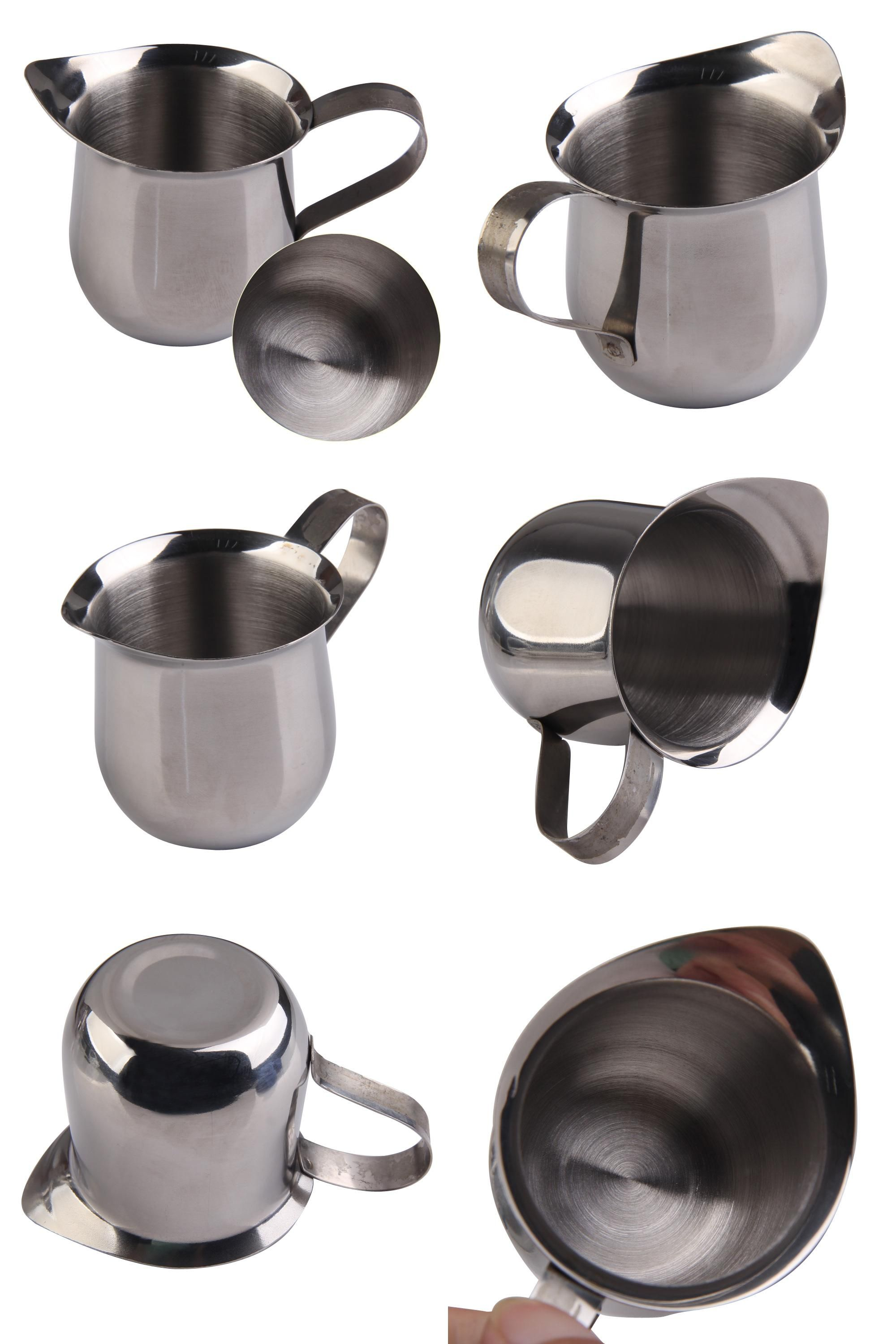 [Visit to Buy] New Stainless Steel Coffee Shop Small Milk