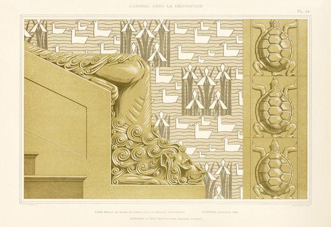 M P Verneuil L'Animal dans la Decoration Grasset 1897 - Lion, Turtle VUL44 Reg. Price: $145 Sale Price: $115