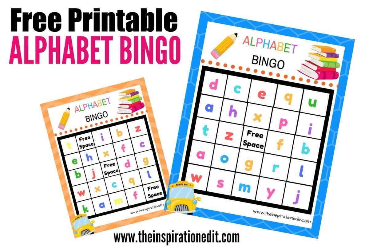 Free Alphabet Bingo Printable For Kids