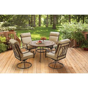 Better Homes And Gardens Bretton Place 5 Piece Dining Set, Seats 4
