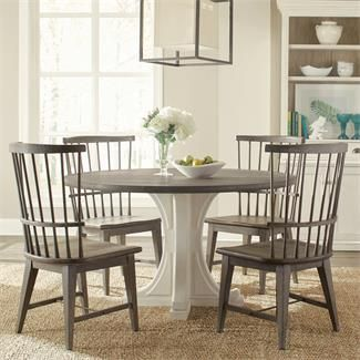 Juniper Round Pedestal Dining Table I Riverside Furniture