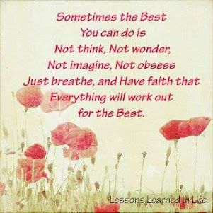 Don't overthink!