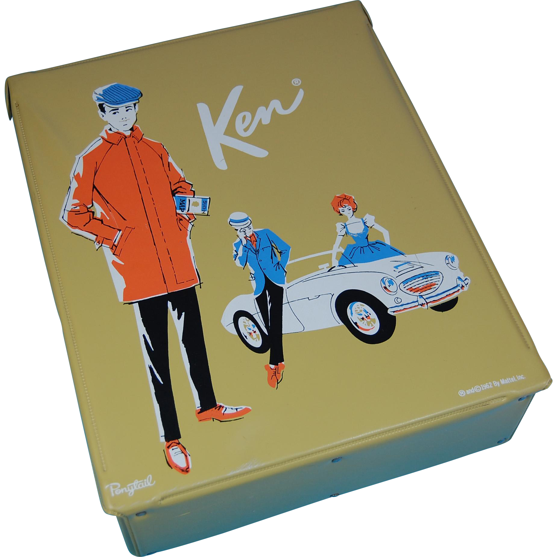 1962 Single Ken Case With Ken Wearing Rally Day And Ken