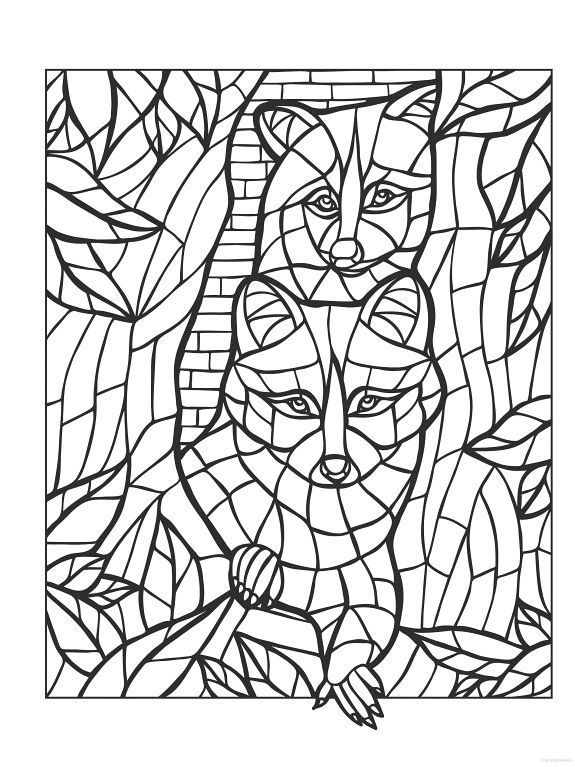 pin on stained glass coloring pages
