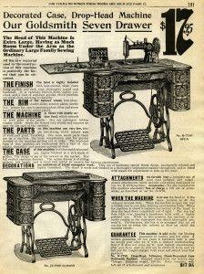 Free Digital Image ~ Vintage Treadle Sewing Machine Catalogue Page