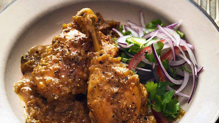 Fiery Black Pepper Chicken Recipe Sbs Food Chicken Stuffed Peppers Indian Food Recipes Stuffed Peppers
