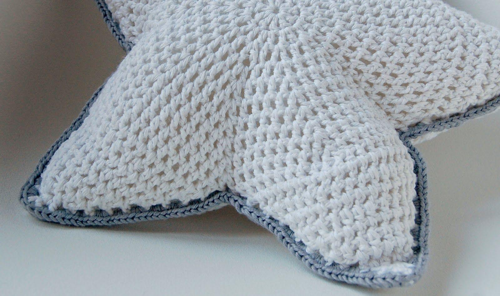ladymaryan: mil gracias: patrón cojín estrella | almohadones crochet ...