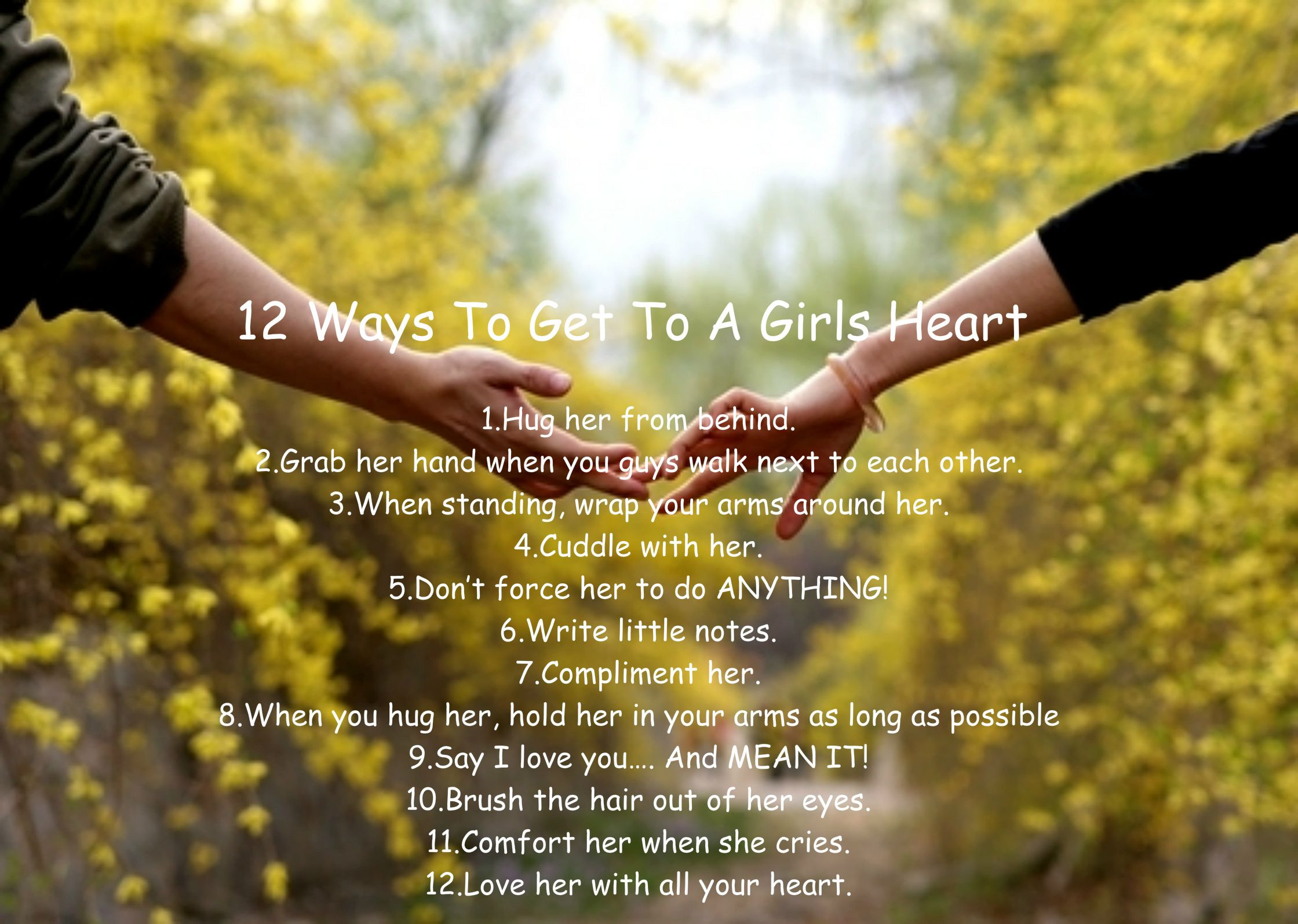 12 way to win a girls heart.   My Quotes of the day ...