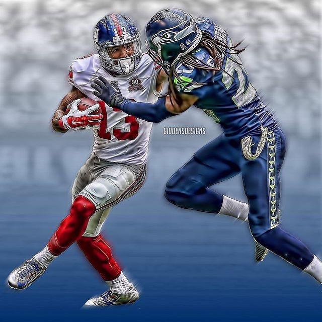 Cool illustration of Seahawks Corner 9ef8a6c56