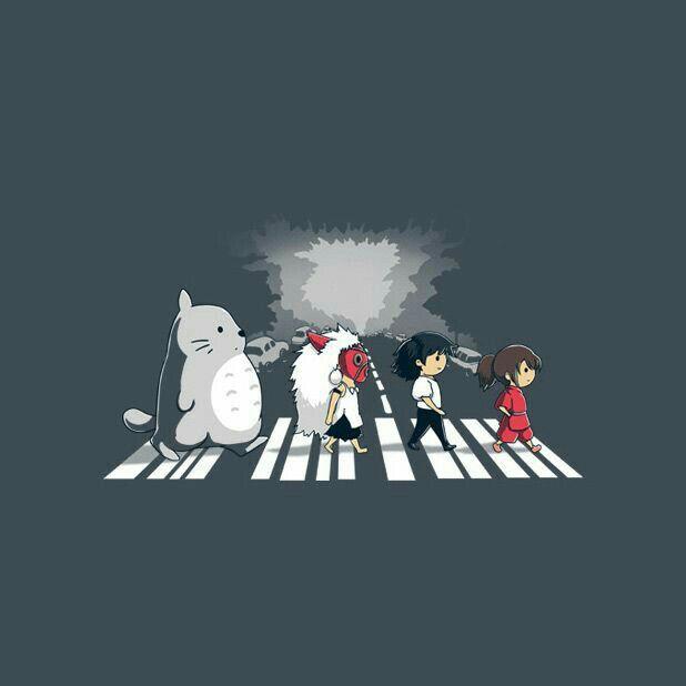 My Neighbor Totoro Princess Mononoke Howl S Moving Castle Spirited Away Studio Ghibli Characters Beatles Crossover Street Ghibli Studio Ghibli Totoro