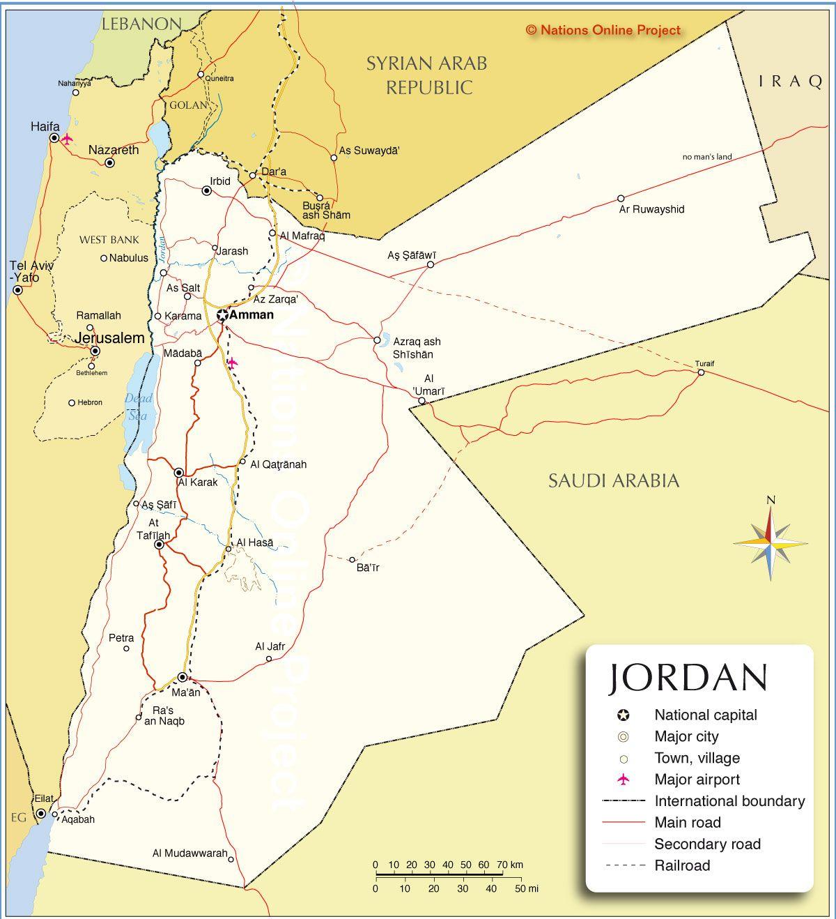 Map of Jordan  821620458a