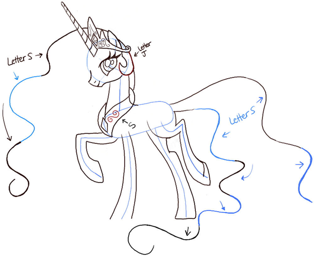 Delightful Today I Will Show You How To Draw Princess Celestia From My Little Pony  Friendship Is Magic. She Is The Co Ruler Of Equestria And Her Job Is To  Raise The ...