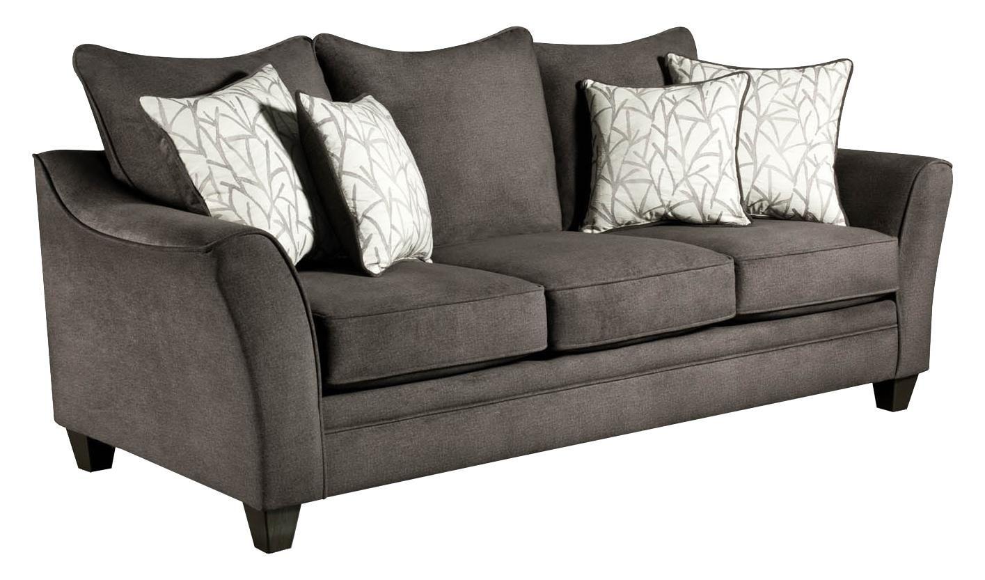 American Furniture 3850 Sofa Item Number 3853 Flannel Seal