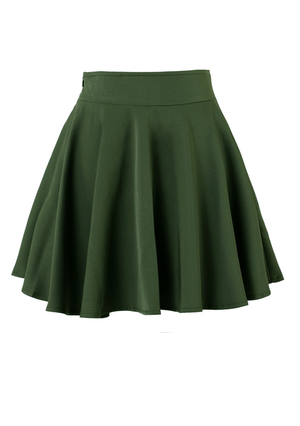 0f48e7a3104 Dark green Skater Skirt