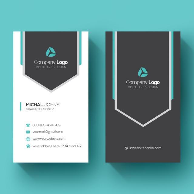 Vertical Business Card Vertical Business Cards Free Printable Business Cards Vector Business Card