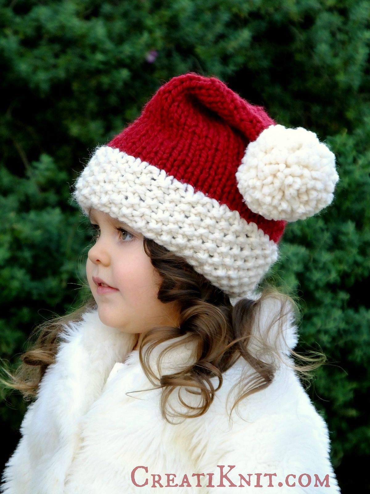 Ravelry: The Santa Cutie Hat by CreatiKnit in 2020   Baby ...
