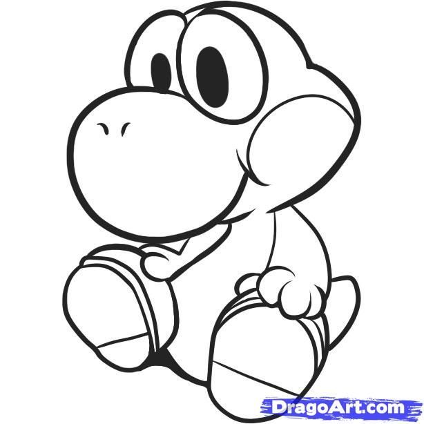 baby yoshi coloring pages 1