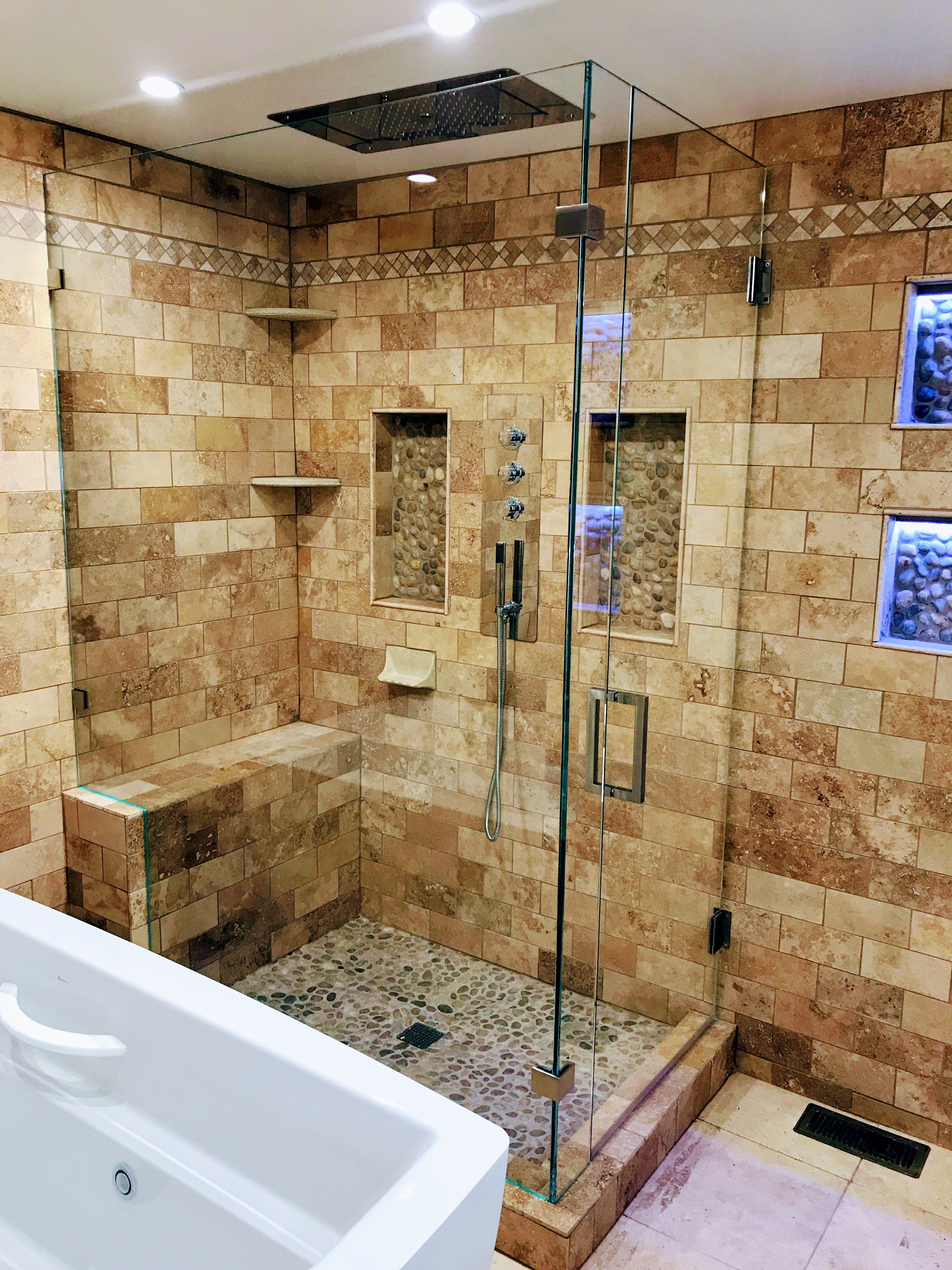 Beautiful Glass Shower Design Ultimate Glass Art Inc Specializes