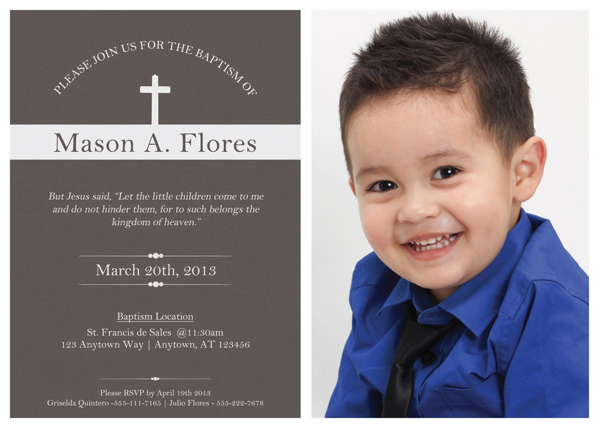 free christening invitation template download | baptism ...