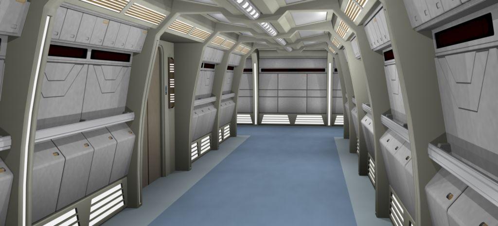 Enterprise-D Corridor - YouTube |Uss Enterprise Corridors