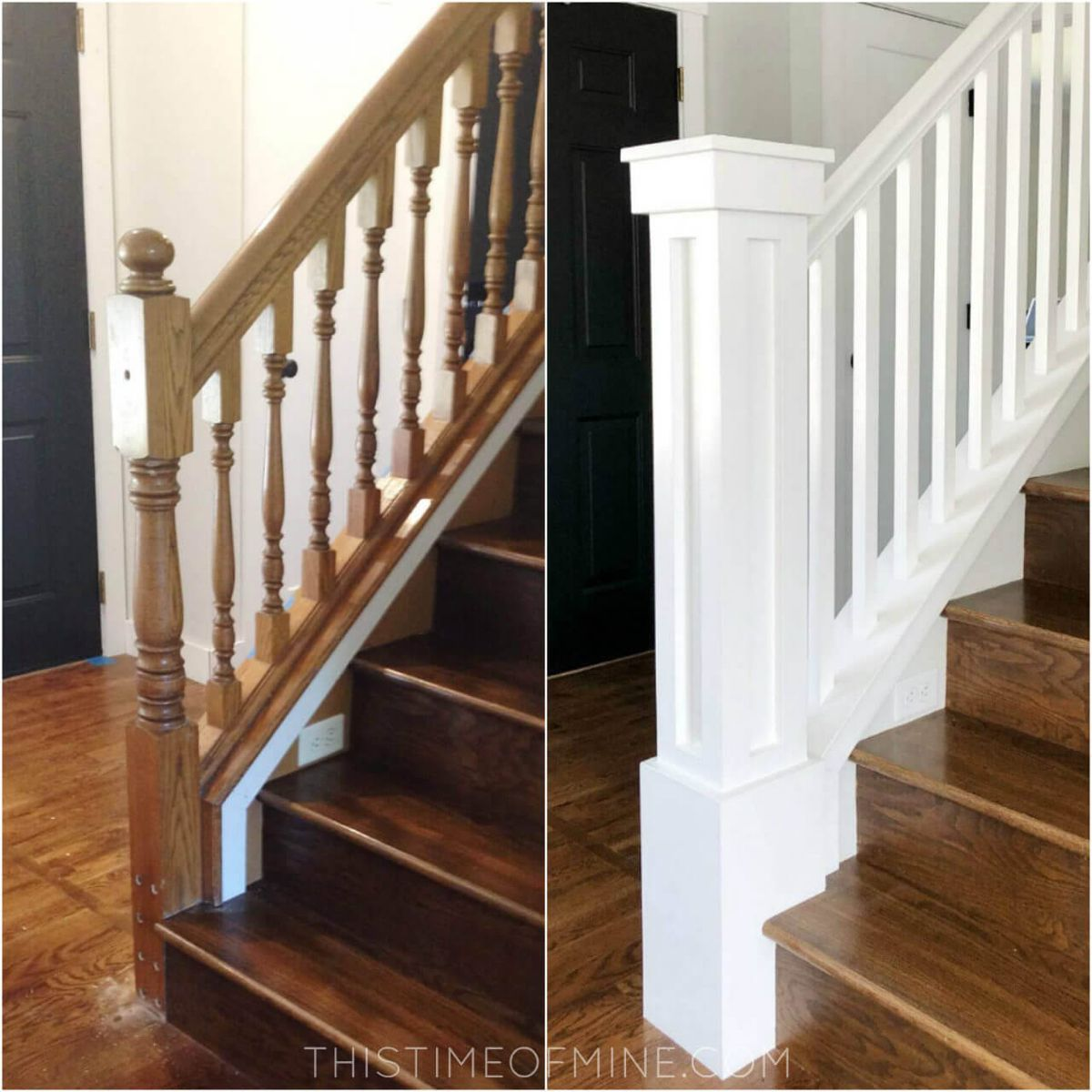 A Diy Oak Banister Makeover Tutorial And Tips Stair Railing