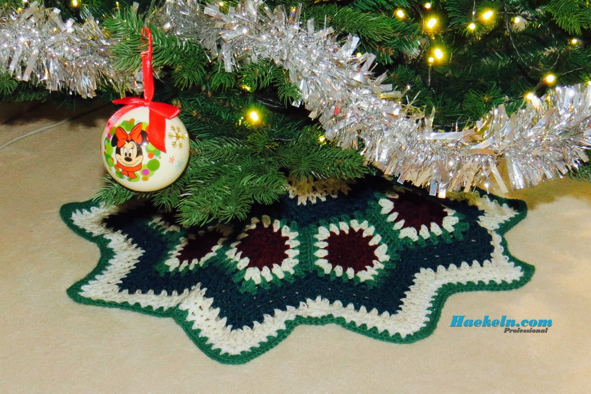 Christmas Tree Skirt • Baumkleid häkeln. Kostenlose Anleitung ...