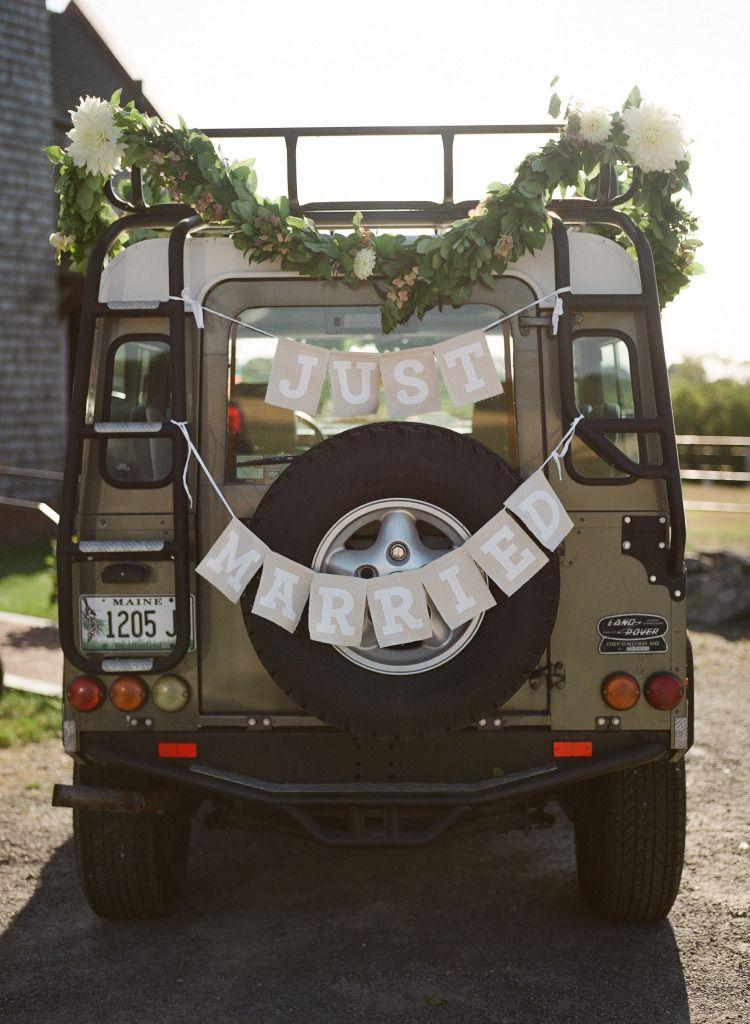 Autoschmuck Hochzeit Deko Hochzeitsauto Land Rover Hochzeit