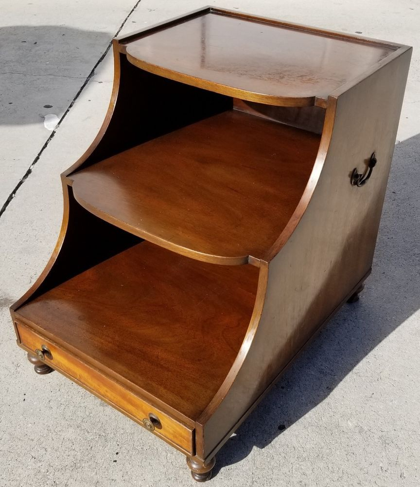 Antique Vtg KITTINGER FURNITURE Co Buffalo Library Steps with Drawer |  Antiques, Furniture, Other Antique Furniture | eBay! - Antique Vtg KITTINGER FURNITURE Co Buffalo End Table With Drawer In