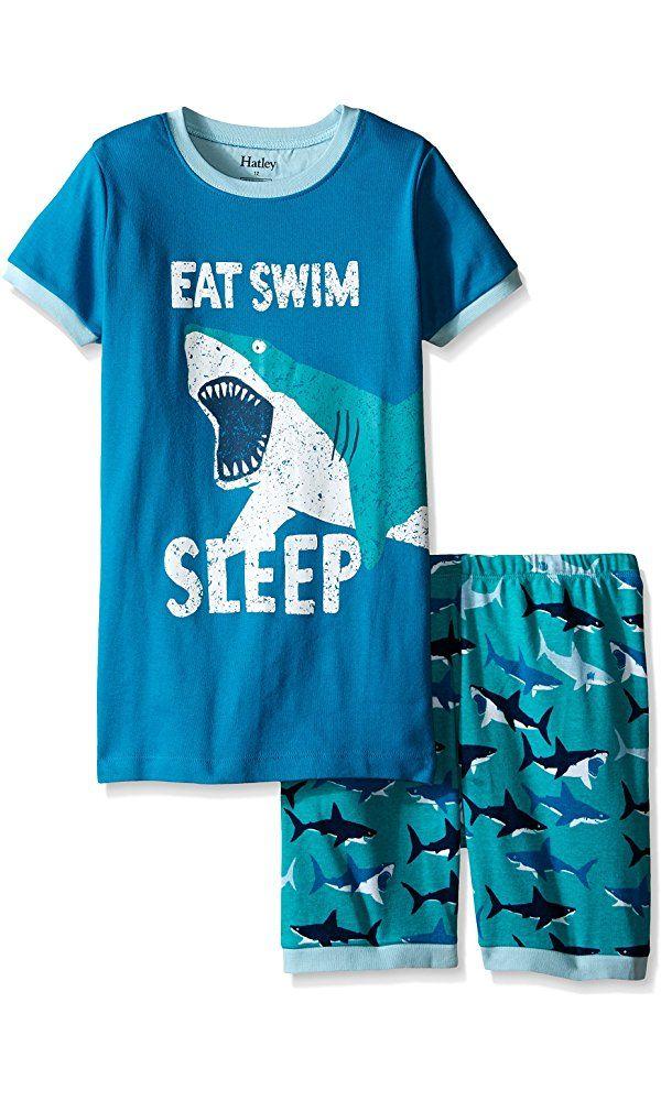 f87bf75af39b Hatley Little Boys Great White Sharks Short Pajama Set