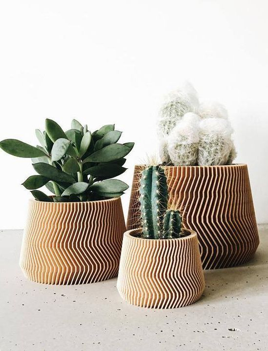 Bring a touch of originality and modernity to your succulent or cactus collection with these 3D-printed planters that are both insanely cool and made from sustainable, biodegradable materials.