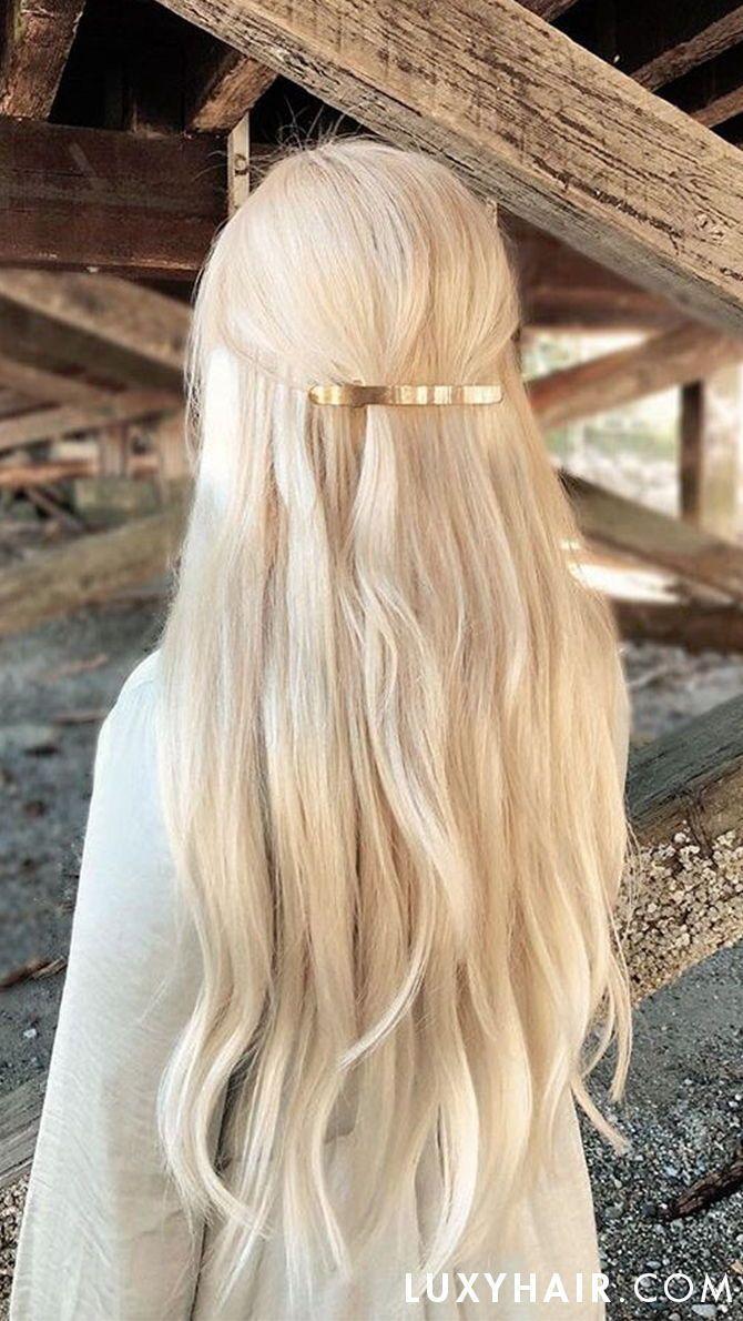 20 Seamless Ash Blonde Clip-Ins - 20 (180g) #ashblondebalayage