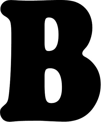 Del Imprimir Negras Letras Abecedario Para