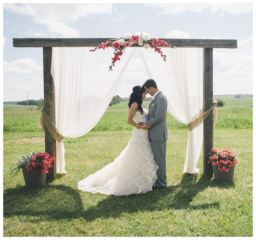 Outdoor Wedding Altars: Doesn't Have To Be Quite As Wide...