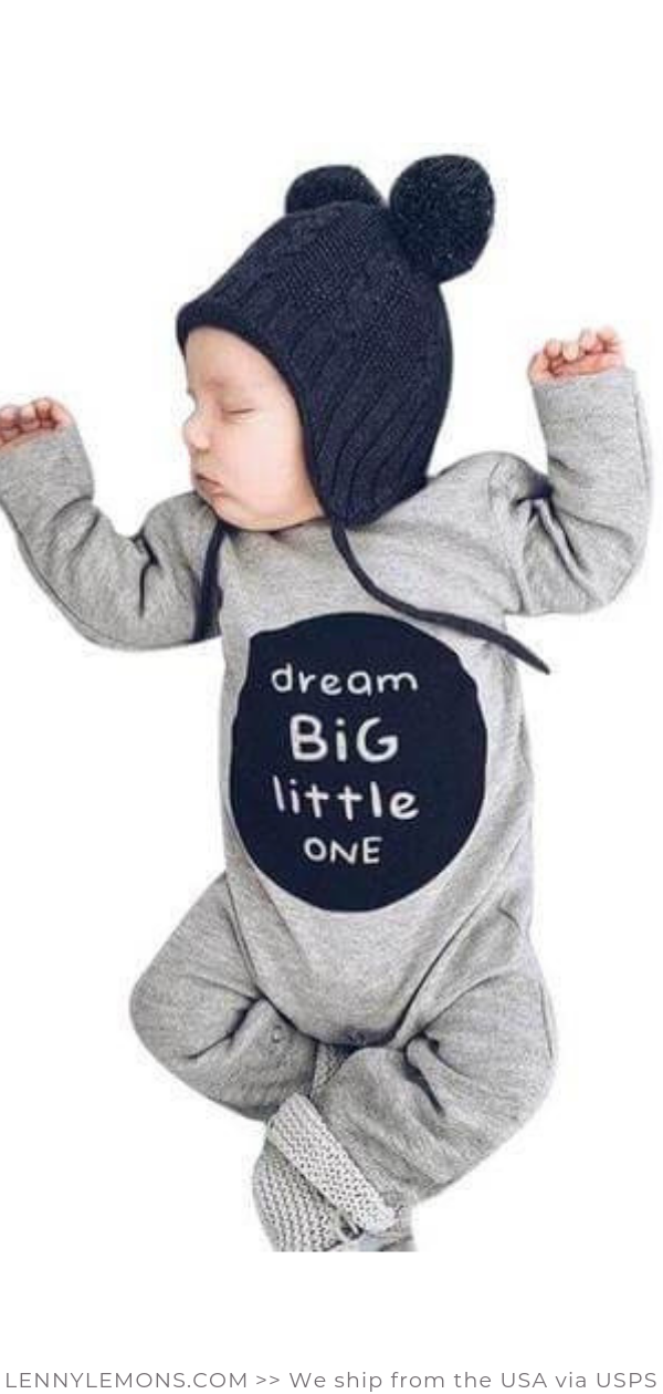 Toddler Kids Baby Letter Boys Hoodie Long Sleeve Romper Jumpsuit Outfits Clothes