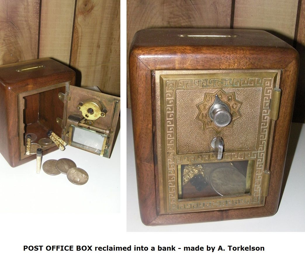 Small Post Office Box Door Reclaimed Bank. Steampunk