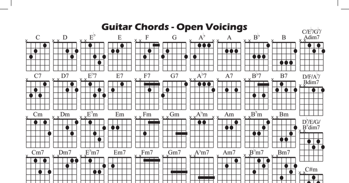 Guitar Chordspdf Jason Stuff Pinterest Guitar Guitar Chords