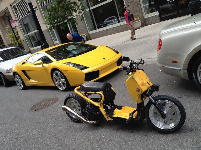 Money Yellow!!! | Mod Honda Ruckus | Pinterest | Honda ruckus, Honda