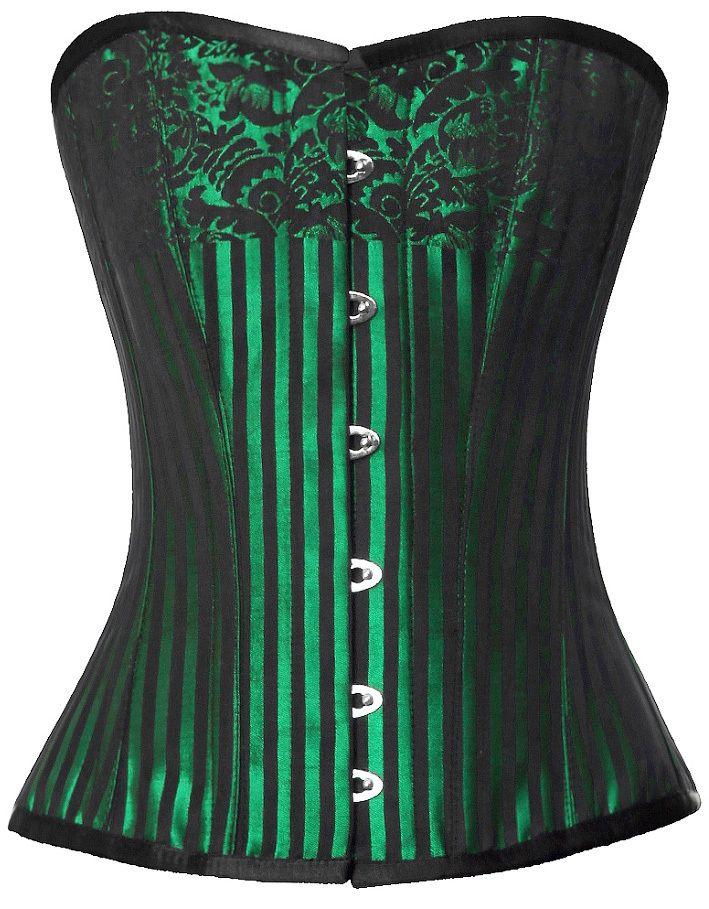 674d51d2e The Violet Vixen - Emerald Green Brocade Corset