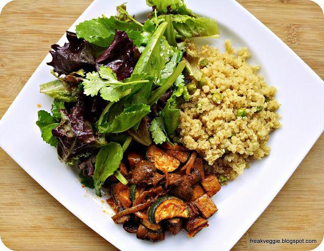 Tofu salteado com Veggies