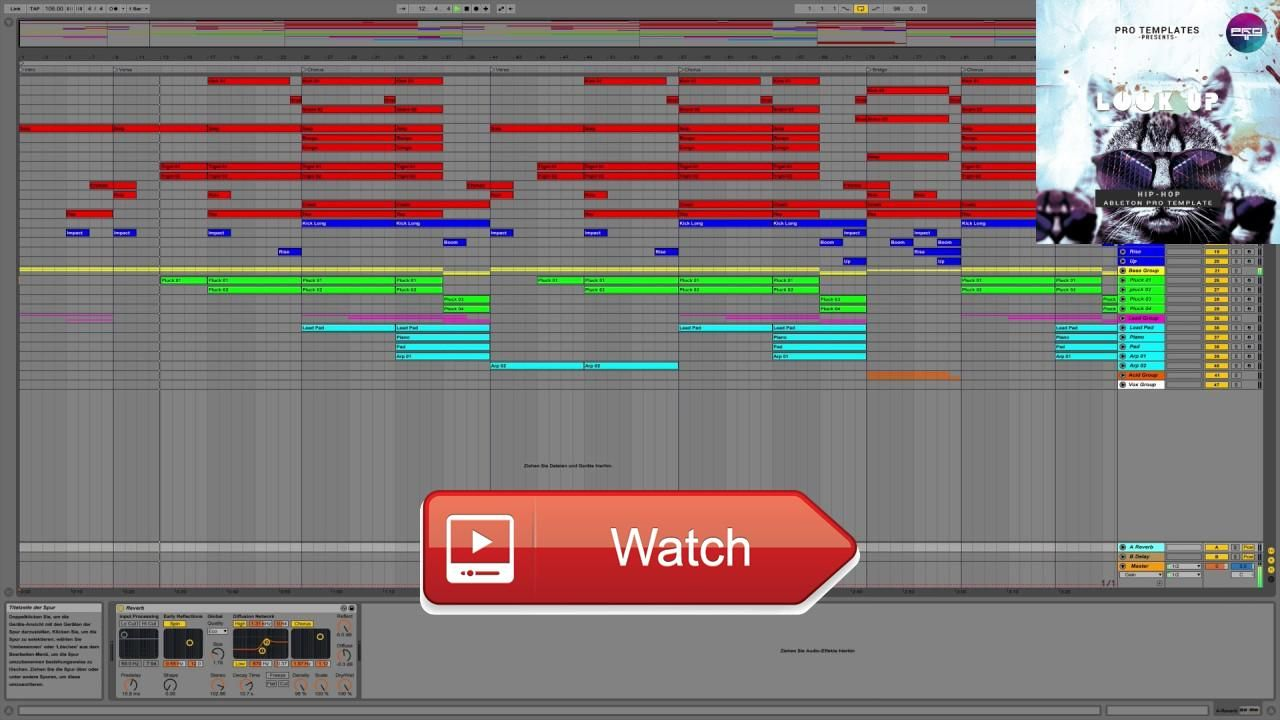 HipHop Ableton Template Look Up See More Genre HipHop BPM 1